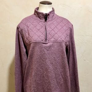 Banana Republic Pullover Zippered Lined Top Large